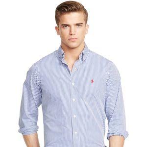 NEW POLO Ralph Lauren Men Striped Poplin Shirt M